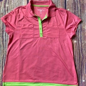Beverly hill golf top XL bright pink& lime green
